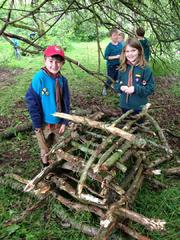 Building a camp fire, Autumn '15