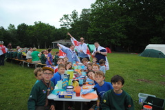 Street party for the Queen's 90th at Cub camp Summer '16