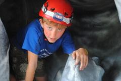 Mobile caving at Cub camp Summer '16