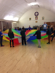 Games in the scout hut Winter '15