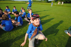 Playing games at Old Sarum Castle Summer '16