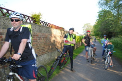 Parent helpers on the Cubs local cycle ride Spring '16
