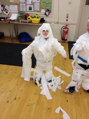 Mummy wrapping, Autumn '15