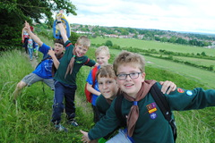 Hike from Old Sarum Castle to the Scout Hut June '16