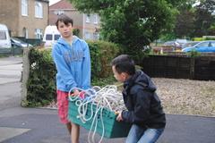 Scouts preparing for raft racing July '16