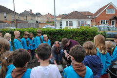 Beavers learning how to light a campfire June '16