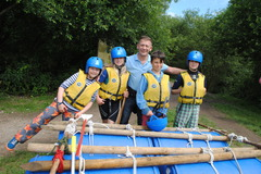 The Scouts ready to test their raft July '16