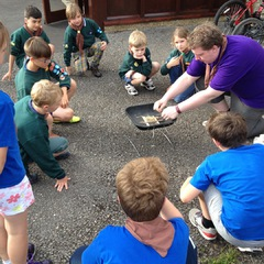 Cubs learning about camp fires July '16