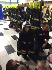 Beavers visit the Fire Station